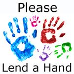 Hand prints donate 150