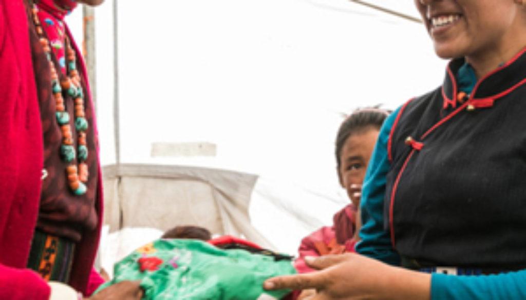 Nurse-Wangmo-hygiene-kits-300